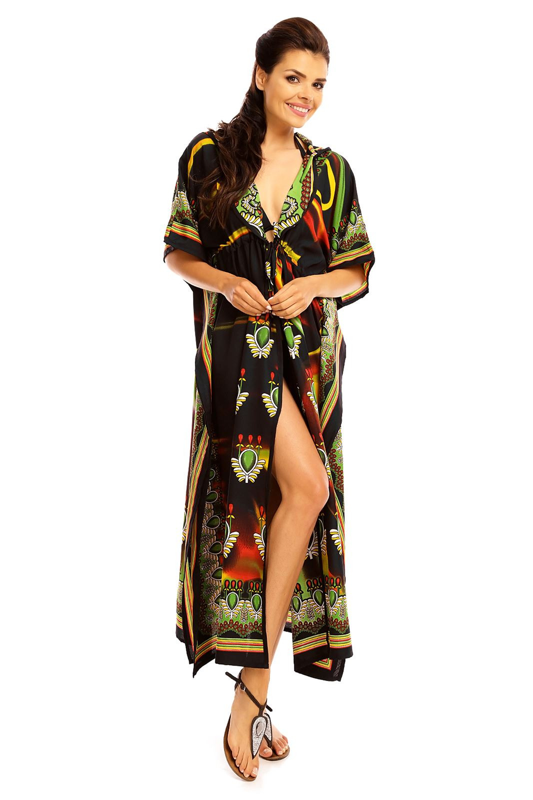 Langer Maxikimono Tunika Kaftan Mantel Kleid Für Frauen