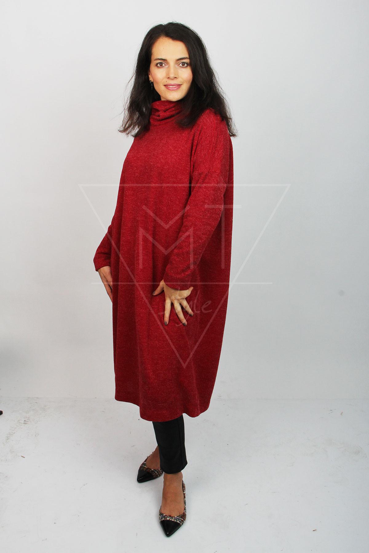 Langer Oversize Pullover Mt0256  Miss Trend Shop