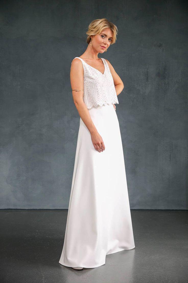 Langer Schlichter Glockenrock Für Die Braut  Lillith