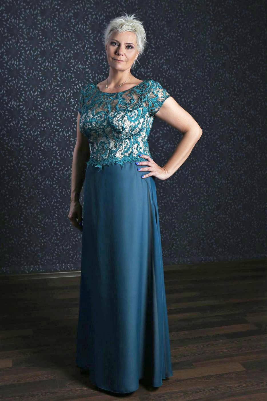 Langes Abendkleid Für Die Brautmutter Smaragd Grün Türkis