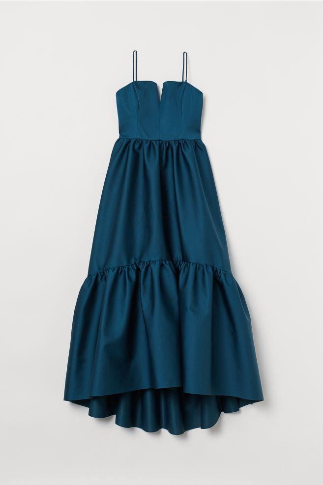Langes Asymmetrisches Kleid  Dunkelpetrol  Ladies  Hm