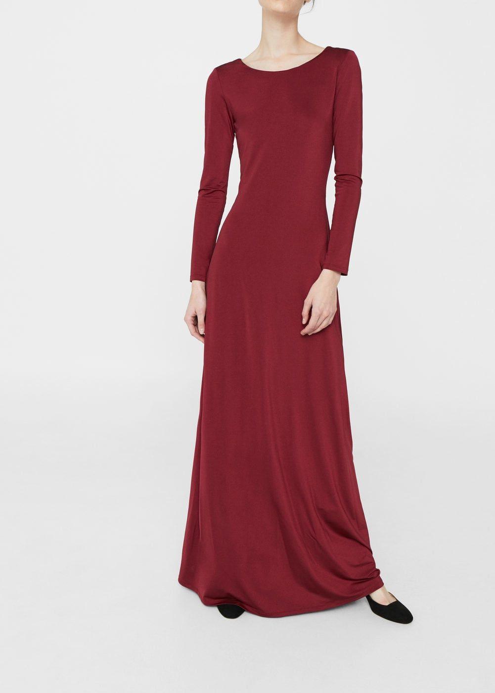 Langes Fließendes Kleid  F Fülange Kleider Damen  Robe