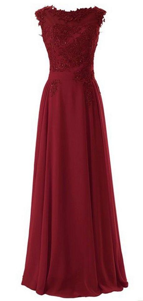 Langes Kleid Dunkelrot  Abschlussball Kleider Abendkleid
