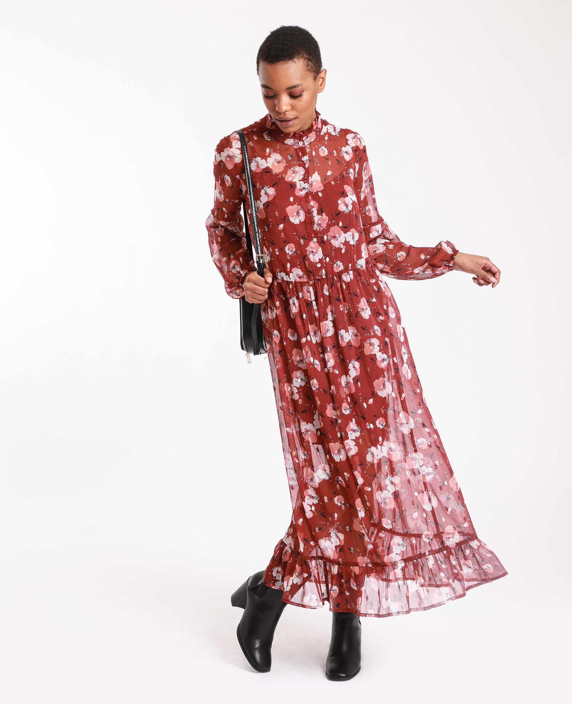 Langes Kleid Mit Blumen Rosa  781377225E0A  Pimkie