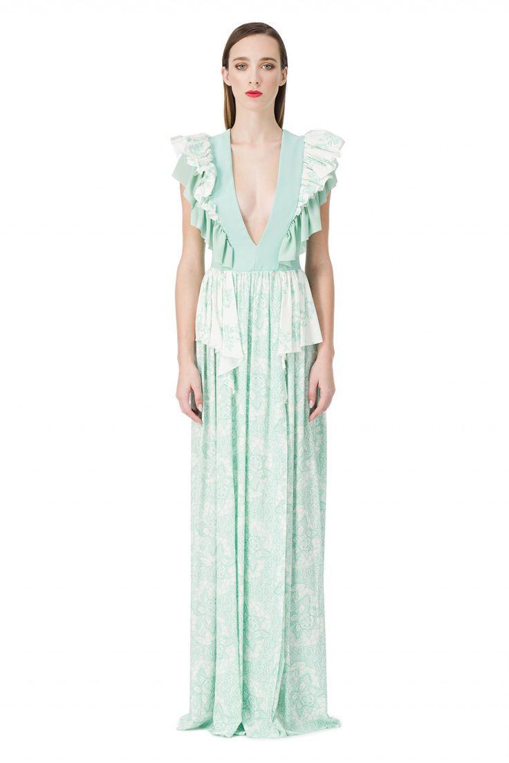 Langes Kleid Mit Fantasiemuster  Elisabetta Franchi