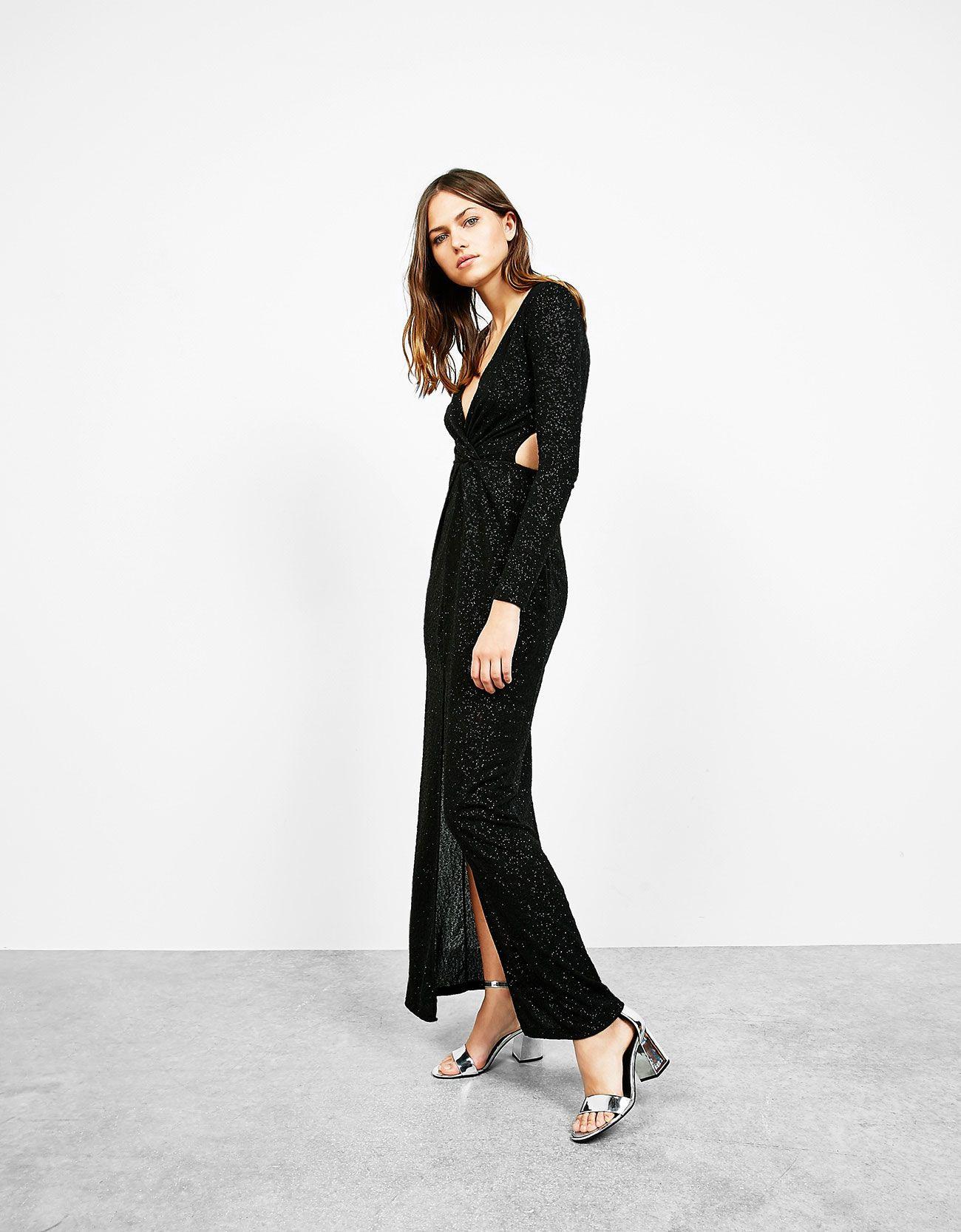 Langes Kleid Mit Glänzendem Jacquard Entdecken Sie Diese