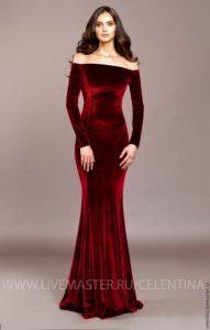 Langes Kleid Samt