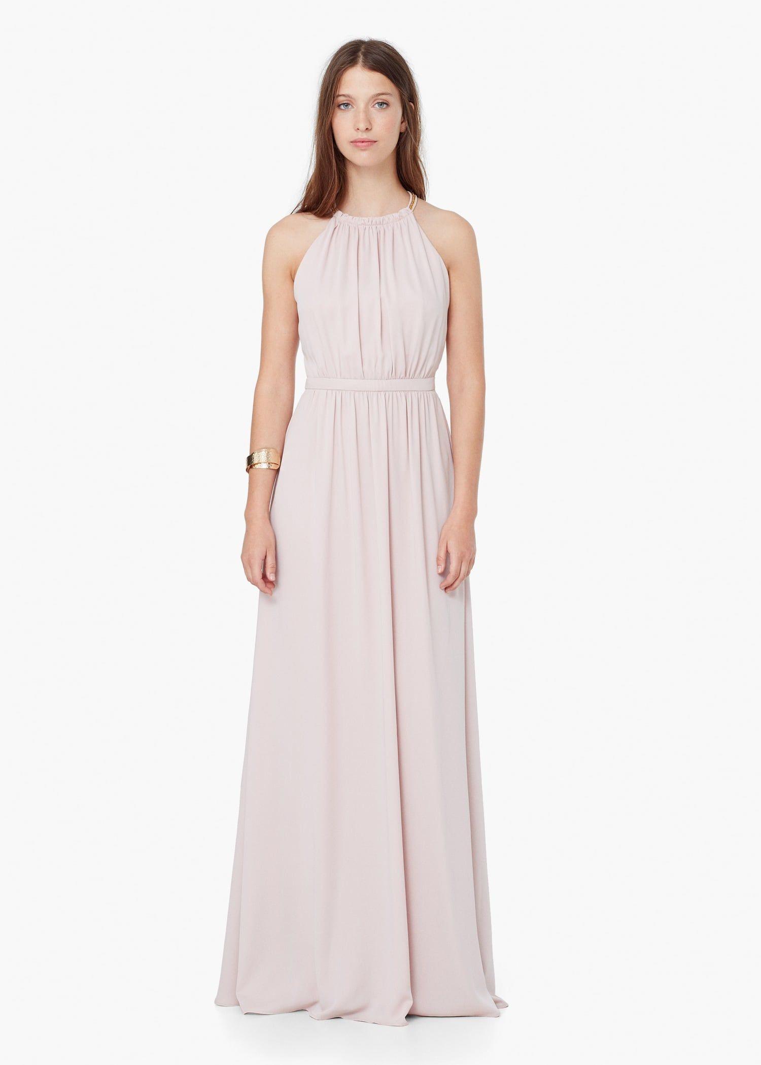 Langes Neckholderkleid  Damen  Neckholder Kleid