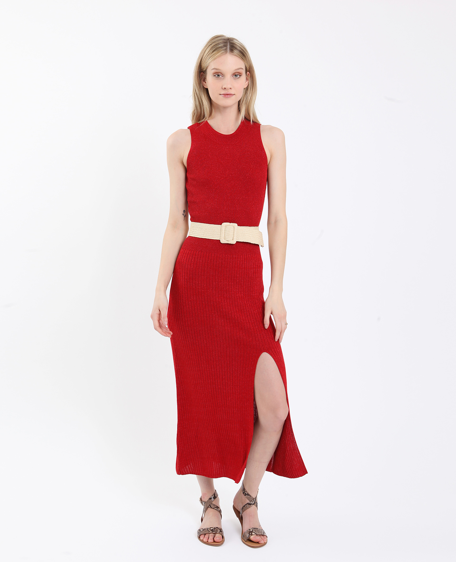 Langes Schimmerndes Kleid Rot  781269338A03  Pimkie