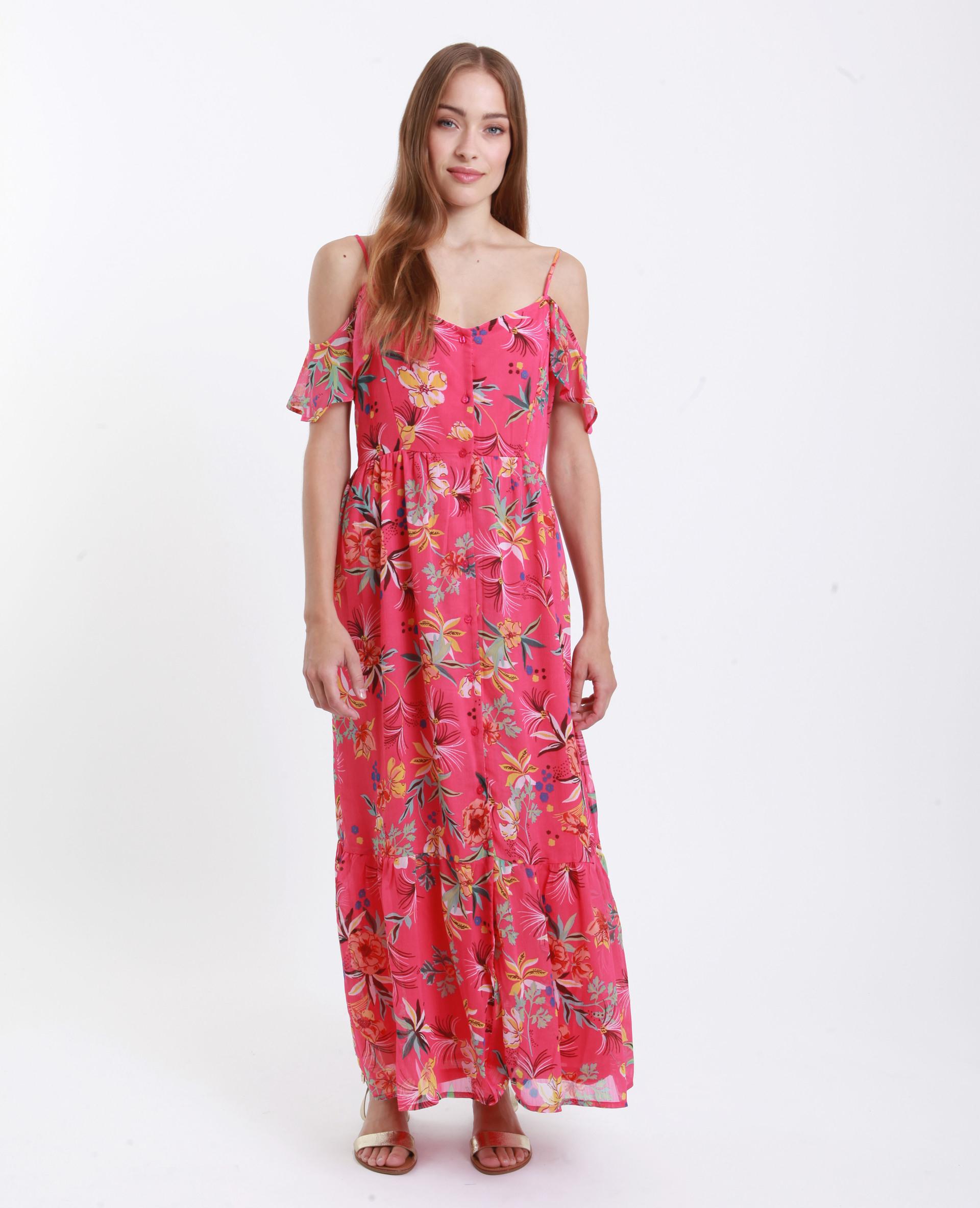 Langes Schulterfreies Kleid Rot  781245307E0A  Pimkie