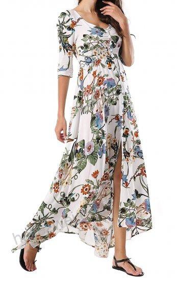 Langes Sommerkleid Mit Blumen