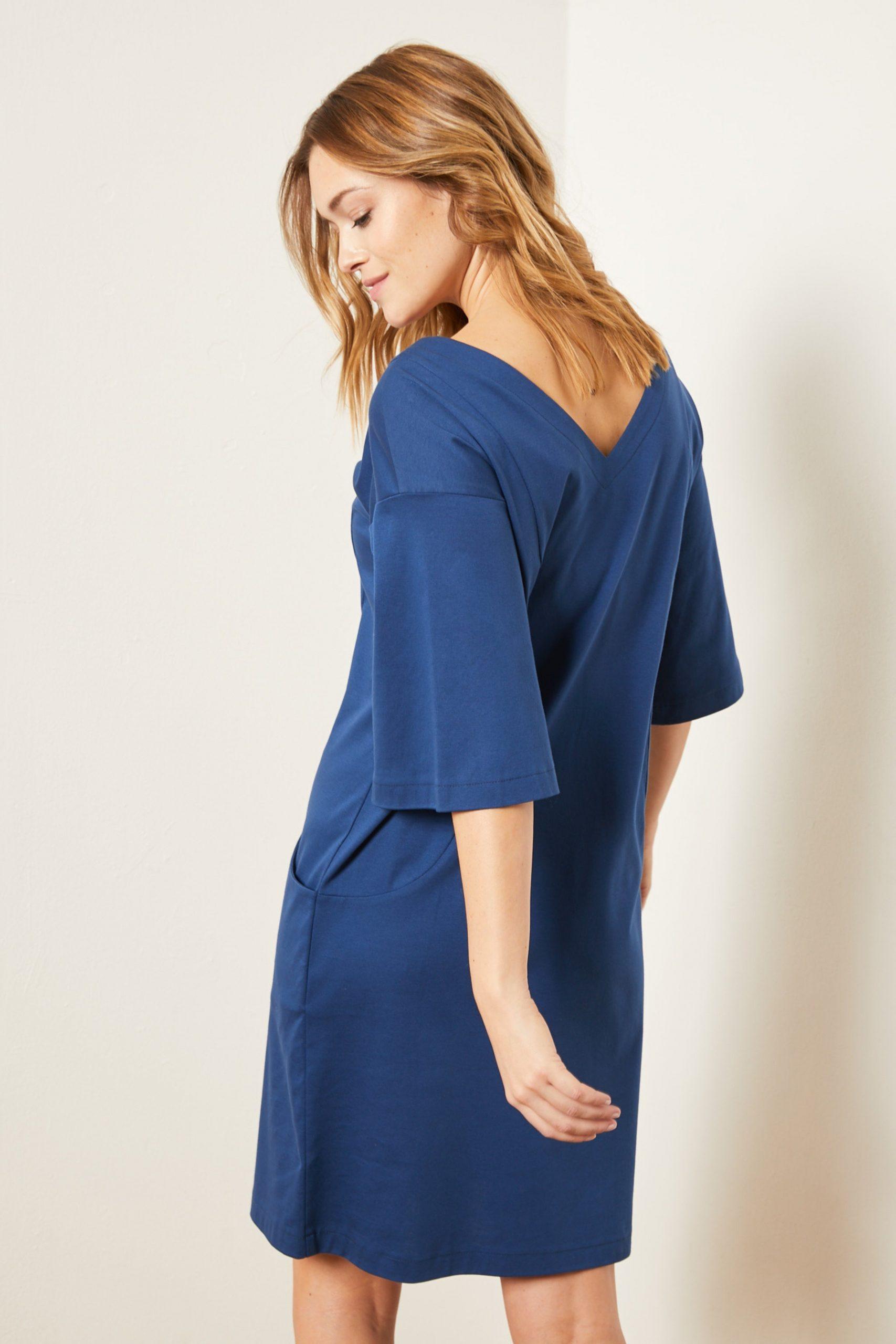 Lanius Kleid Mit Rückenausschnitt Blau  Loveco