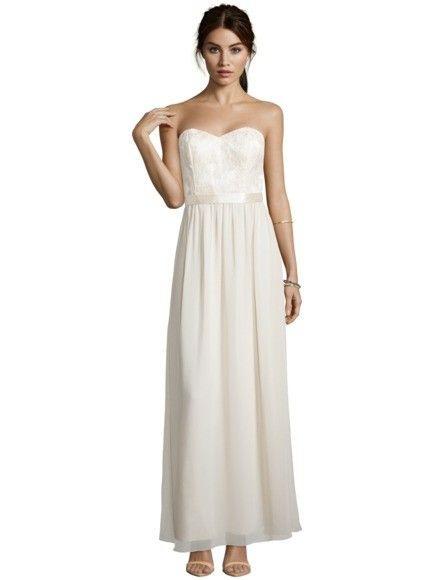 Laona Abendkleid Mit Spitzenbesatz In Weiß Online Kaufen