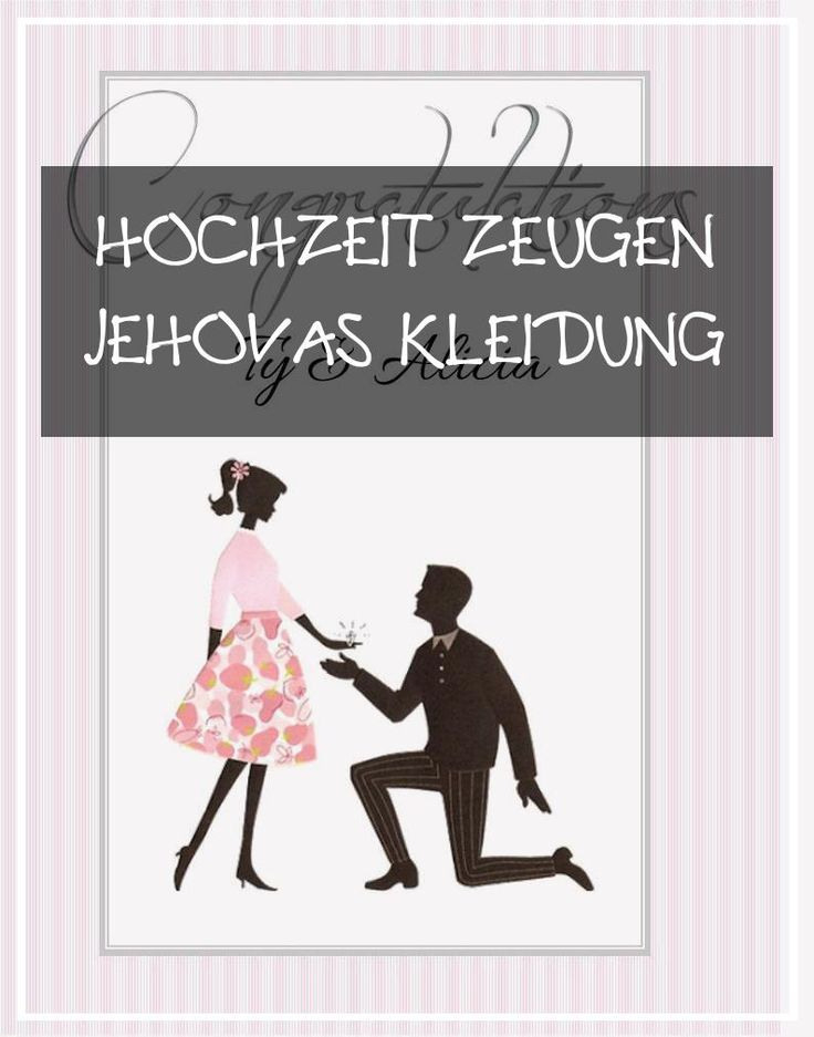Large 18 Hochzeit Zeugen Jehovas Kleidung