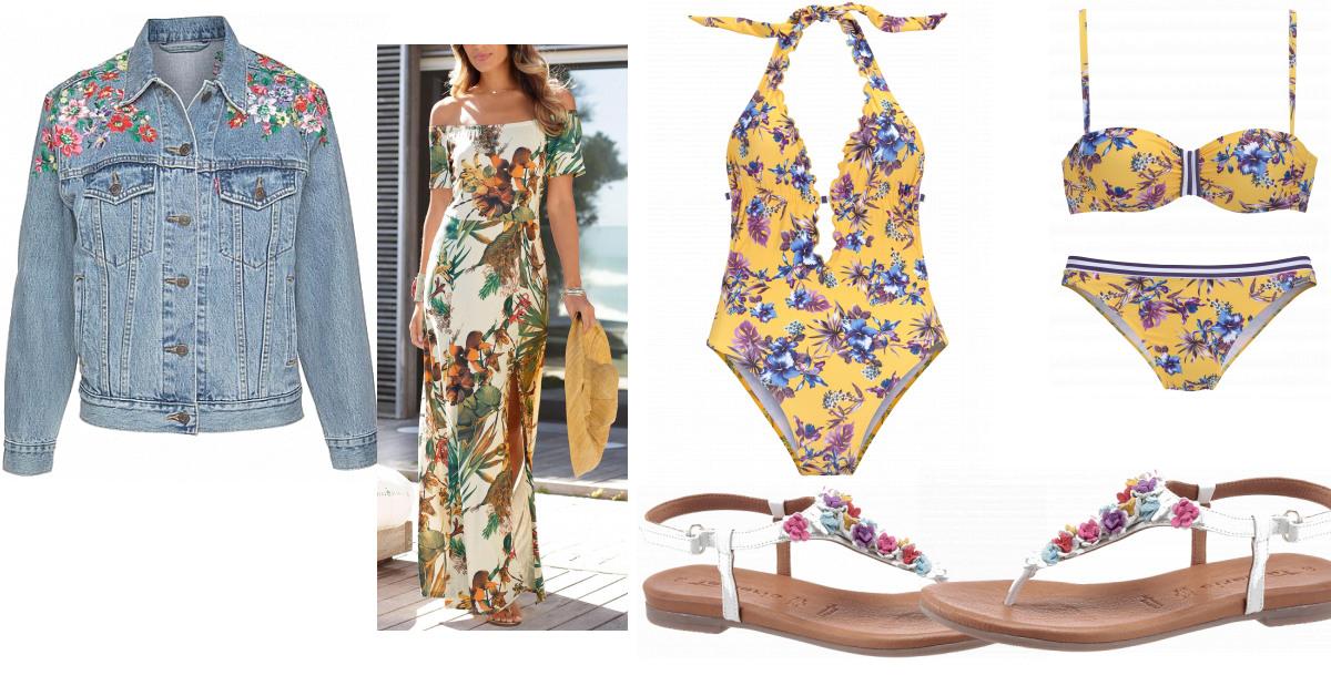 Lascana Kleid Damen Outfit  Komplettes Sommeroutfit