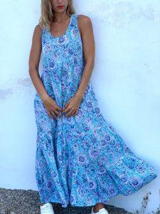 Lässige Baumwollgemische Kleider  Kleider  Ärmellos