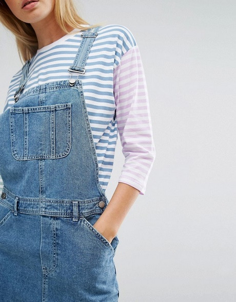 Latzkleid Jeans Damen