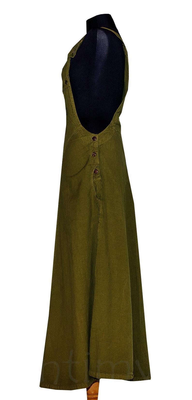 Latzkleid Maxi Langes Hippie Kleid Maxi Kleid Baumwolle