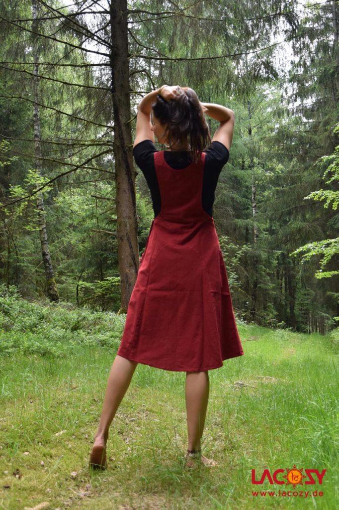 Latzkleid Nala Damen Rot  Lacozy Onlineshop