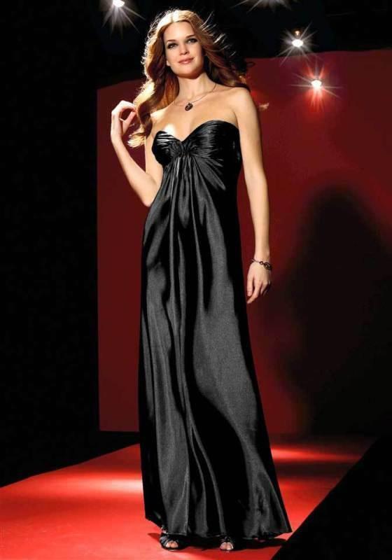 Laura Scott Evening Satin Bandeaukleid Abendkleid Kleid