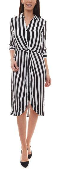 Laura Scott Streifenkleid Trendiges Damen 3/4Arm Kleid