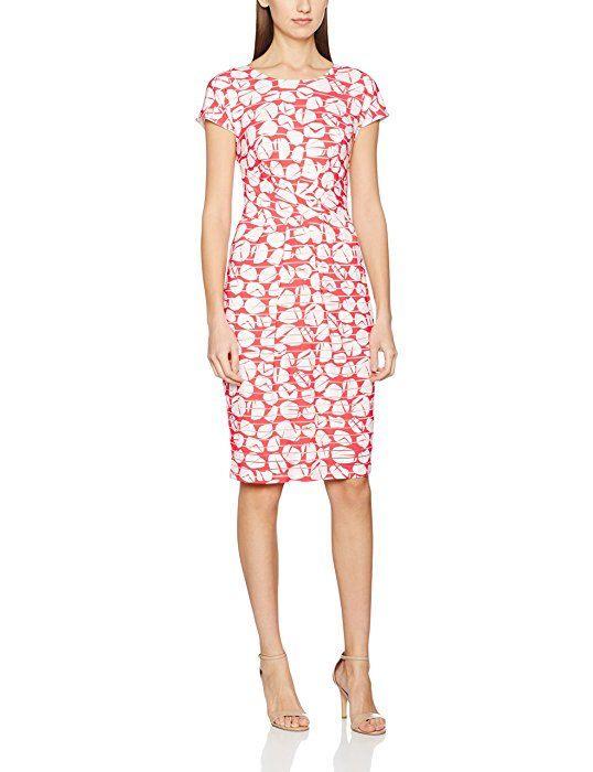 Laurèl Damen Kleid Jerseykleid Mehrfarbig Gemustert