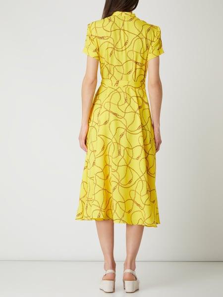 Lauren Ralph Lauren Blusenkleid Mit Kettenmuster In Gelb