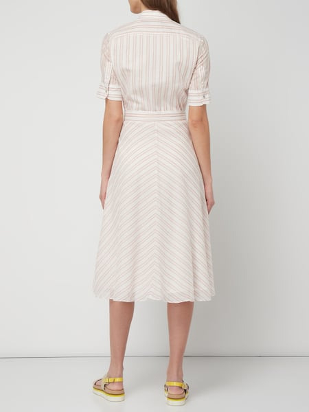 Lauren Ralph Lauren Blusenkleid Mit Taillengürtel In Rosé