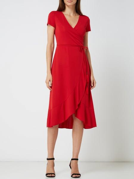 Lauren Ralph Lauren Wickelkleid Mit Volantsaum In Rot
