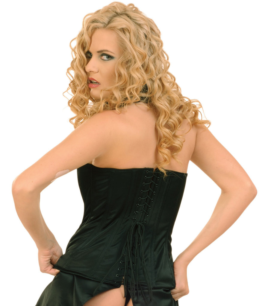 Ledapol 3069 Satin Corsagenkleid Korsettkleid Online Kaufen