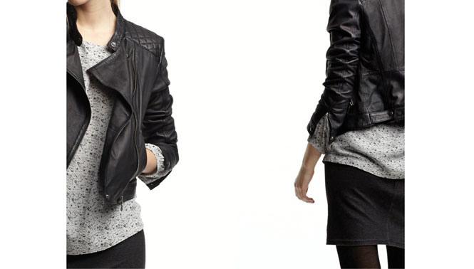 Lederjacke Damen New Yorker  Stylische Kleider Für Jeden Tag