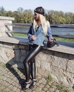 Lederlady ️  Leder Leggings Schwarze Lederhose