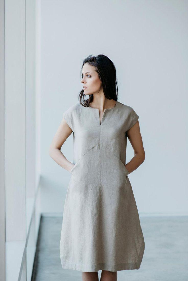 Leinen Kleid Motumo 15S3  Kleider Leinen Kleidung Modestil