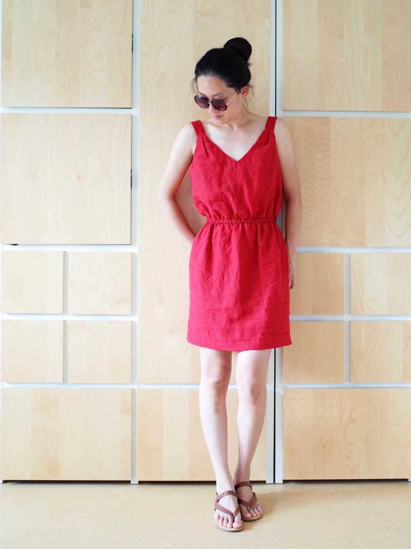 Leinen Sommerkleid Mit Gummizug Spezialanfertigung Von
