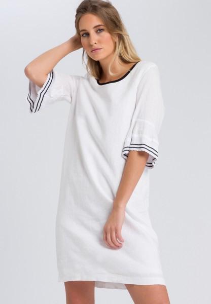Leinenkleid Mit Volantsärmeln  Kleider  Röcke  Fashion