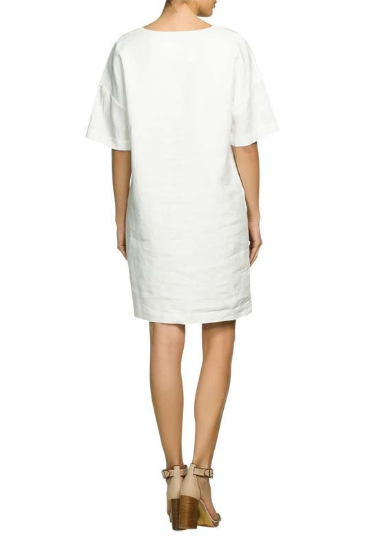 Leinenkleid Weiß  Oui » Günstig Online Kaufen