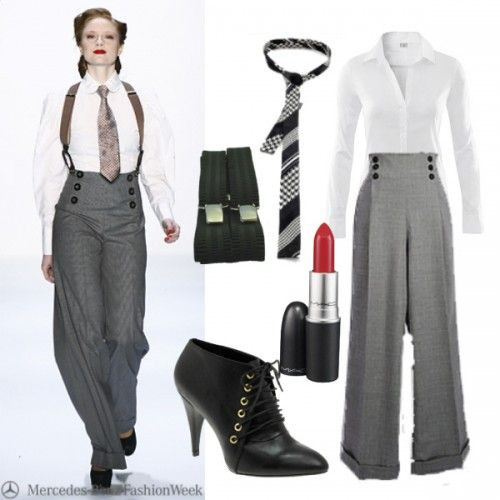 Lenahoschekoutfit  20Er Jahre Outfit Hosenanzug Damen