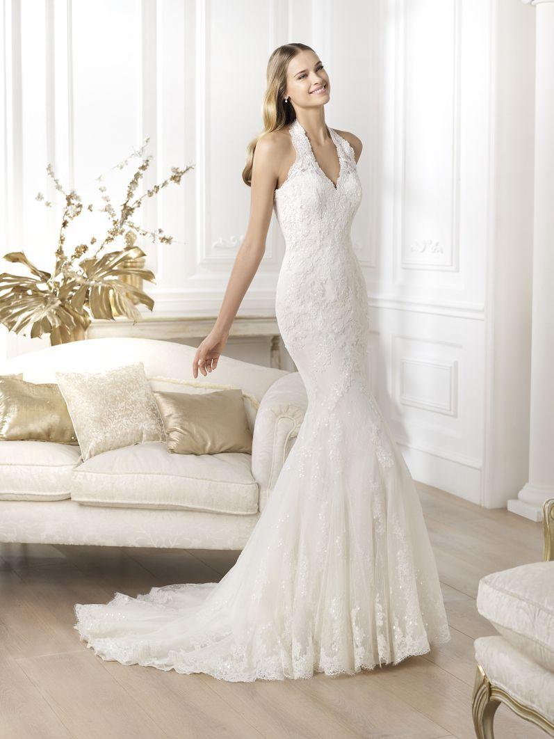 Lestermore On Wwwpronovias  Chiffon Hochzeitskleid