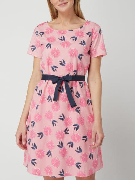 Lieblingsstück Kleid Mit Allovermuster In Orange Online