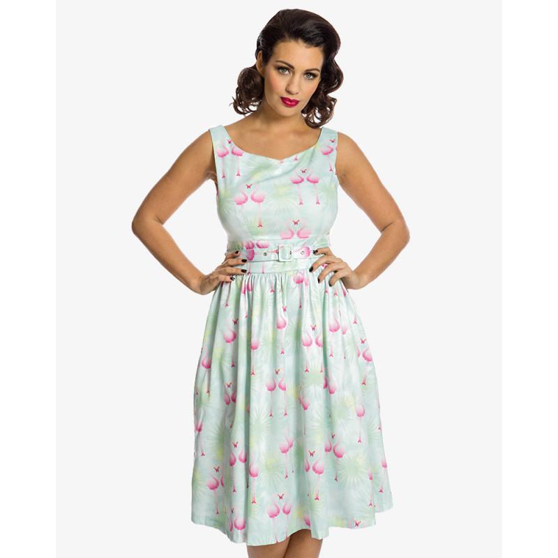 Lindy Bop 50Er Jahre Retro Petticoat Flamingo Kleid
