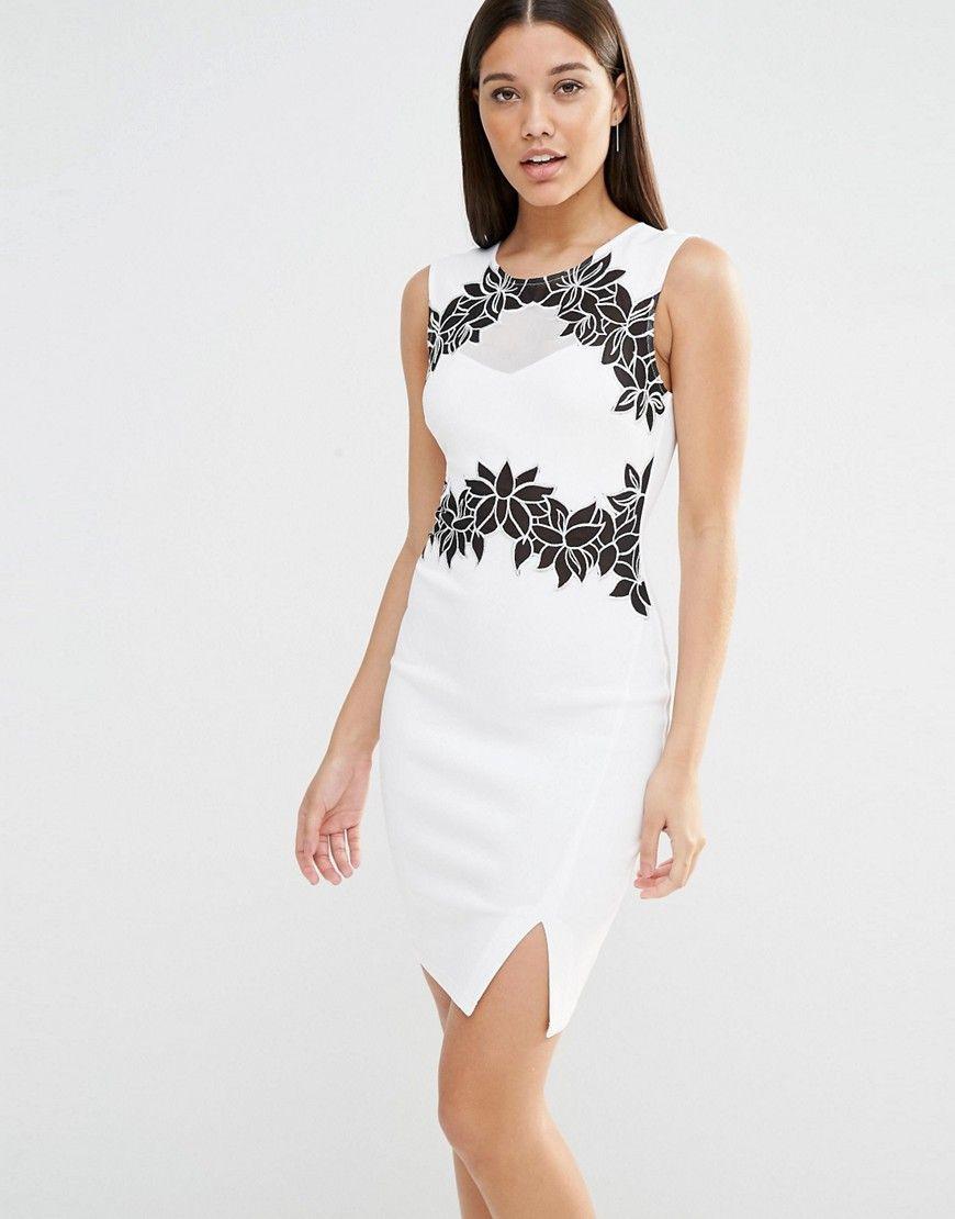Lipsyfloralandmeshbodyconmididress  Midi Dress