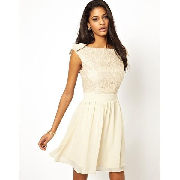 Little Mistress Prom Dress With Lace Bardot Top 103825