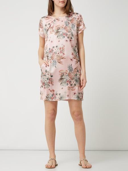 Liu Jo Jeans Kleid Aus Satin Mit Floralem Muster In Rosé