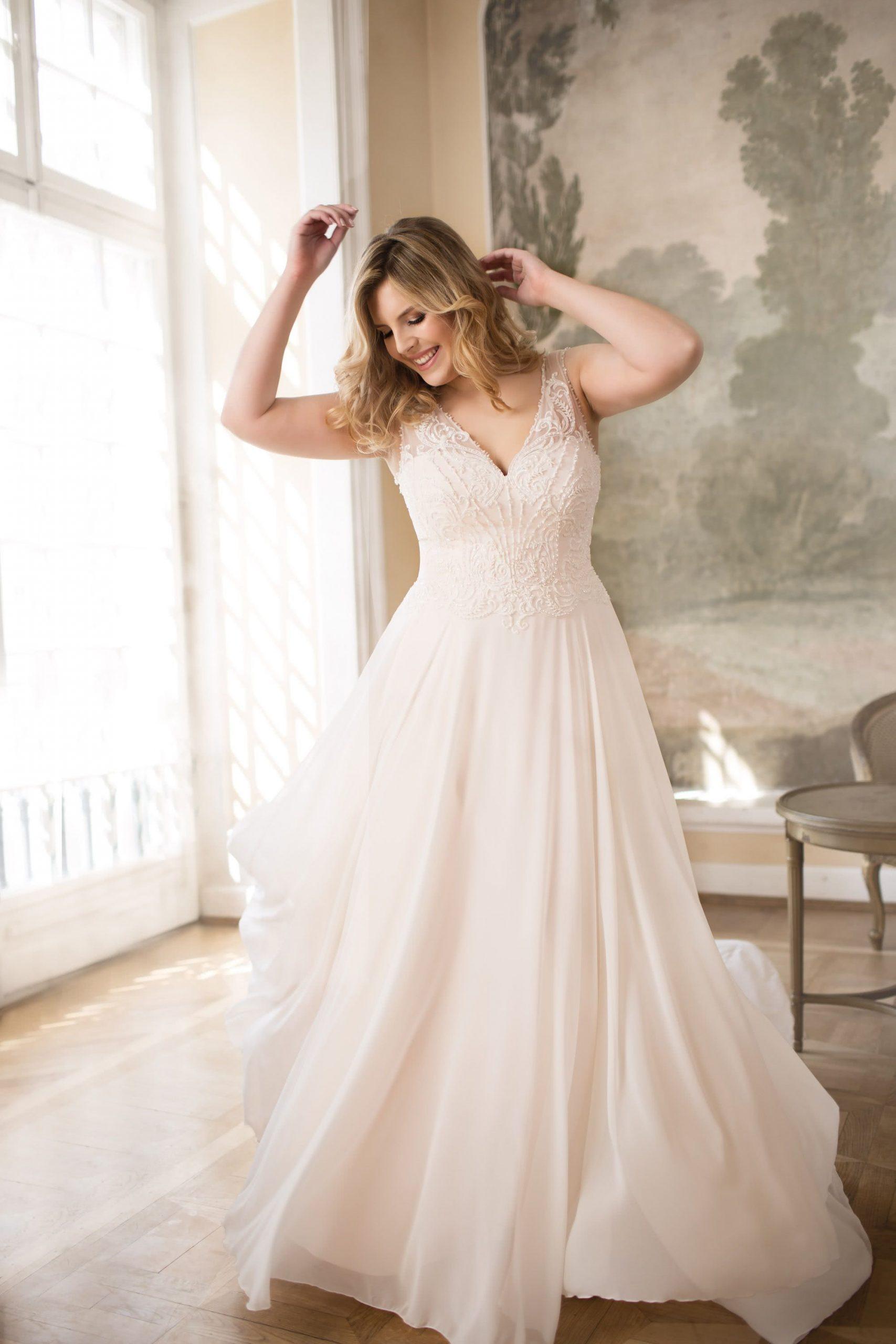 Lo77T  Kleider Hochzeit Brautmode Hochzeitskleid Plus Size
