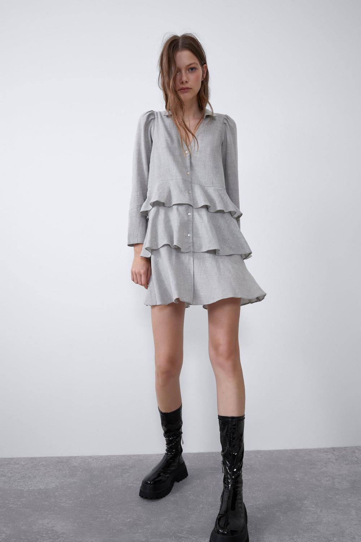 Long Ruffled Shirt  New Intrf  Zara United Kingdom