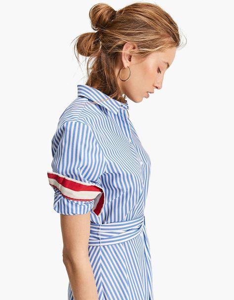Long Striped Shirt Dress  Just In  Stradivarius United
