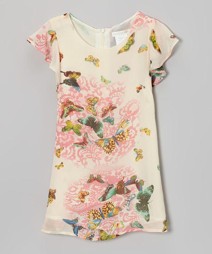 Look At This Cream  Mädchen Kleider