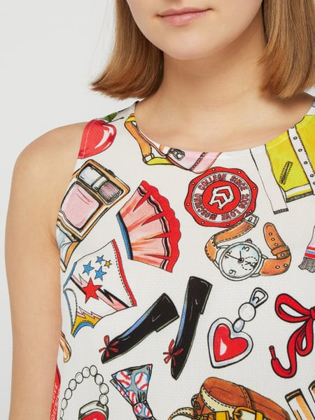 Love Moschino Kleid Mit Allovermuster Und Raffungen In