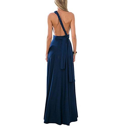 Loverbeauty Kleider Damen Vausschnitt Rückenfrei