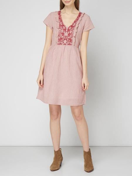 Ltb Kleid Aus Baumwollleinenmix In Rot Online Kaufen
